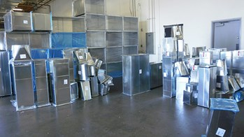 Sheet metal ductwork and HEPA filters