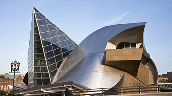 Architecture Sheet Metal Project: Exterior of Taubman Museum of Art in Virginia