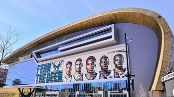 Exterior of the Milwaukee Bucks Arena