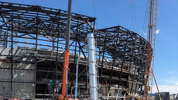 Construction of Allegiant Stadium, home of the NFL Las Vegas Raiders